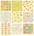 cartoon floral designs vector image