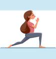cute girl in yoga pose vector image