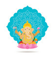 ganesha hindu god or deity vector image
