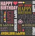 happy birthday alphabet headline vector image