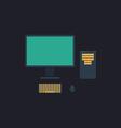 PC computer symbol vector image