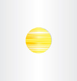 sun icon abstract energy symbol vector image