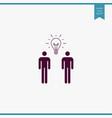 teamwork icon simple vector image