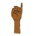 cute hand with pinky up symbol vector image