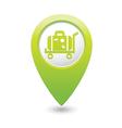 suitcase on wheelbarrow icon green map pointer vector image vector image