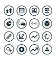 big data database icons universal set vector image