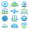 Water emblem set vector image