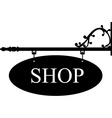 Old shop sign vector image