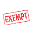 Exempt red rubber stamp on white vector image
