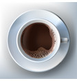a realistic style of coffee vector image