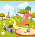 cute children at playground happy children vector image