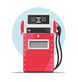 Modern red fuel dispenser over white background vector image