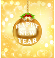 New Year background gold color vector image