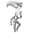 puppet logo design template management or vector image