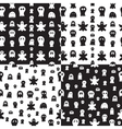 Seamless ghost pattern vector image