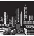 Cityscape by night vector image