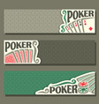 banners for poker game vector image