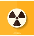 Radiation danger icon vector image