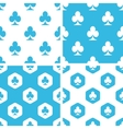 Clubs patterns set vector image