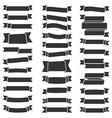 31 Black Ribbons vector image vector image