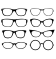 Set of eyeglasses Vector Image