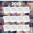 Calendar template brochure business design vector image