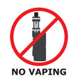 no vaping sign flat style prohibition sign no vector image