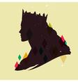 queen silhouette vector image