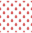 red drop of blood with cross pattern vector image
