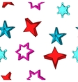 Types of stars pattern cartoon style vector image