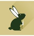 Flat web icon with long shadow rabbit carrot vector image