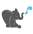Image of an elephant spraying water vector image