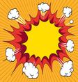 Boom Comic book explosion element Vector Image