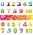 Big Cartoon Numbers Set vector image