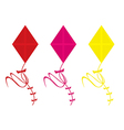 Kites isolated vector image vector image