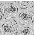 black and white seamless background with roses vector image