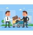 Car sale  Customer buying vector image
