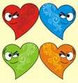 isolated love face vector image vector image