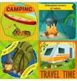 Summer Camping Compositions vector image