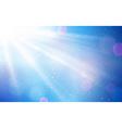 Abstract blue white sun light bokeh vector image