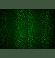 binary code green background big data and vector image