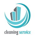 cleaning houses2 vector image