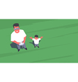 Father and son taking drone selfie vector image
