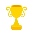 gold trophy win sport award icon vector image
