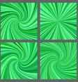 Green spiral and starburst background design set vector image