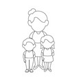 mother with her kids vector image