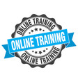 online training stamp sign seal vector image