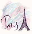 Paris background vector image