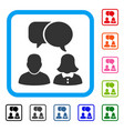 people chat framed icon vector image
