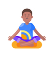 flat style of afro american man doing yoga vector image